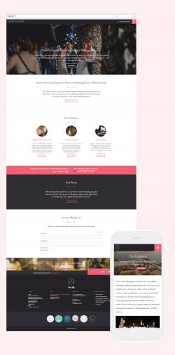 Accent Events website design