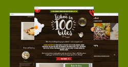 'Lisbon In 100 bites' website