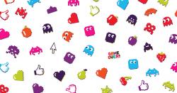 Pixel Dash game stickers